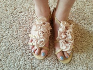 Ruffle shoes