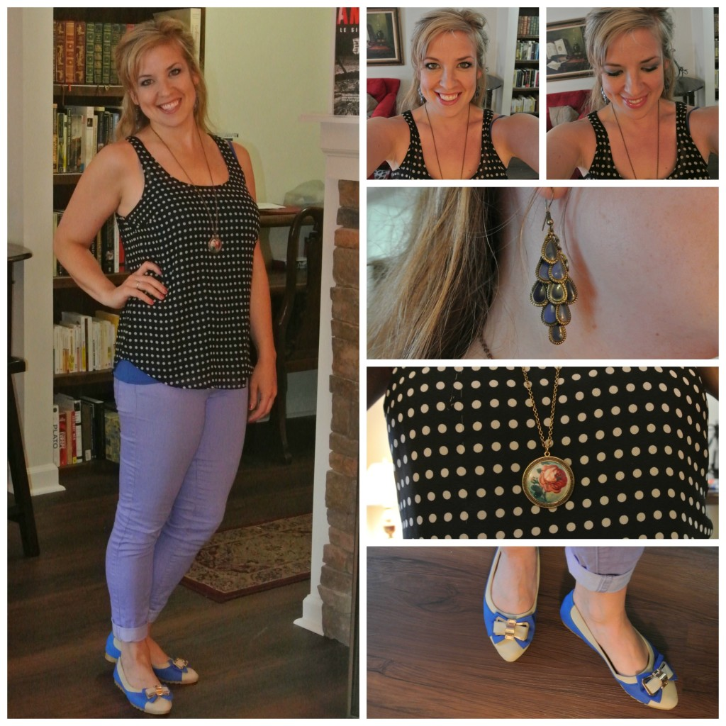 1 - polka dots and lavender