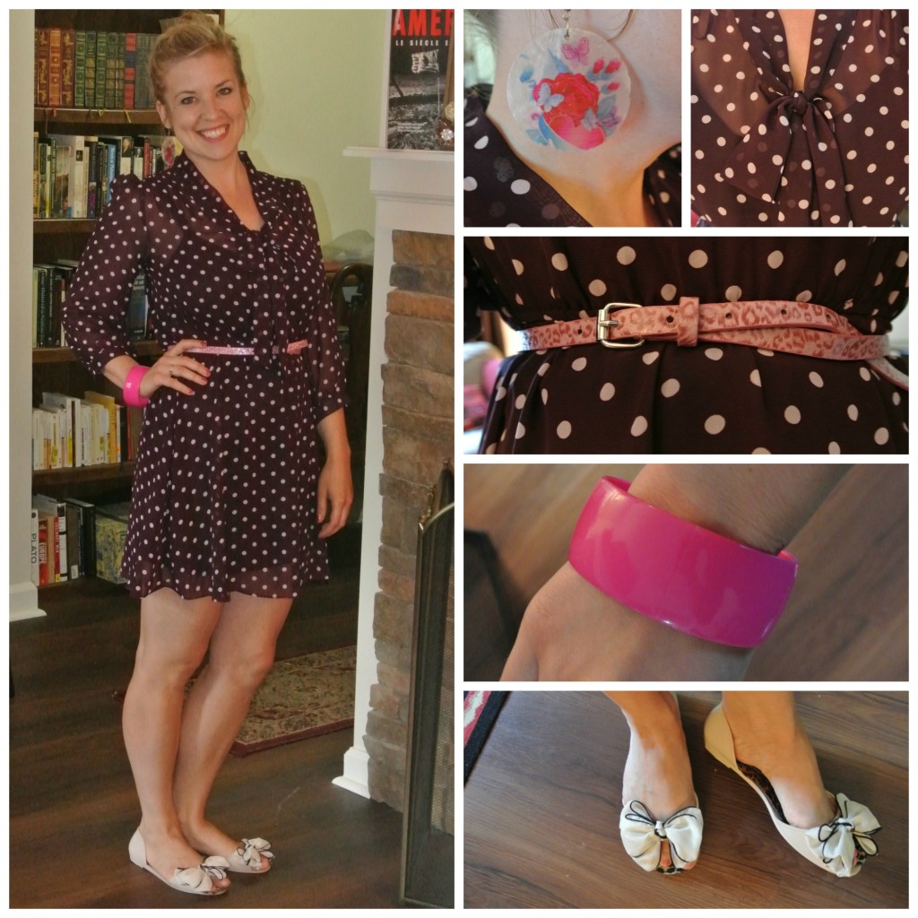 1- polka dot dress