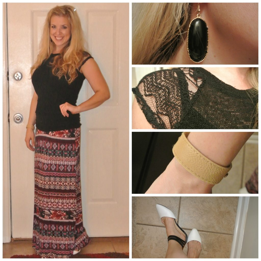 1 - maxi and lace top