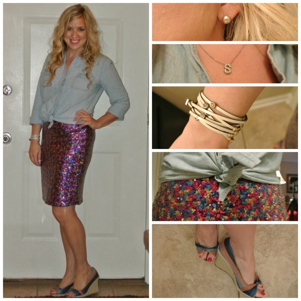 1 - chambray and sequins