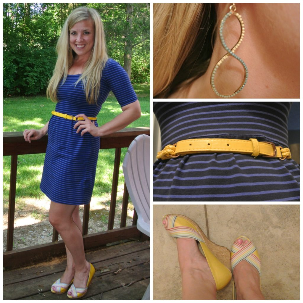 1-blue-striped-dress-yellow-belt
