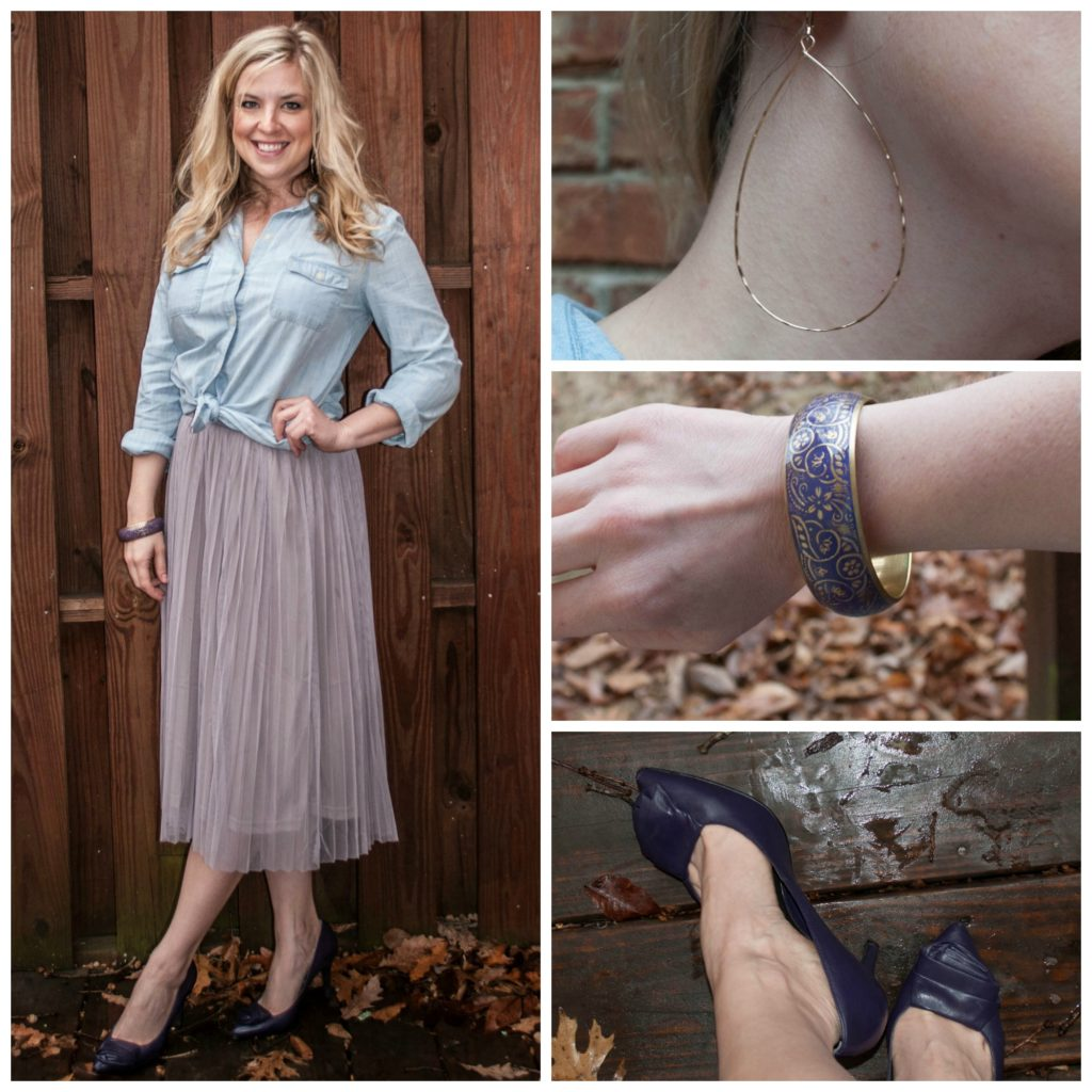 1 - tulle skirt, chambray